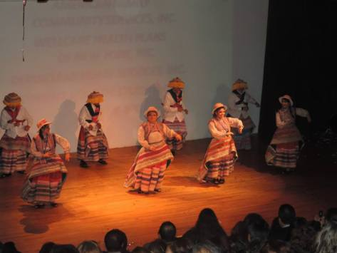 """Performing the dance """"Wititi"""" at Boulevard Theatre."""